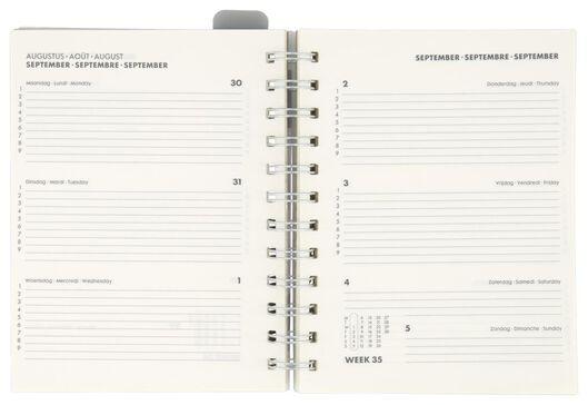 agenda scolaire avec pochette 21/22 kraft 16.5x12.5 - 14500518 - HEMA