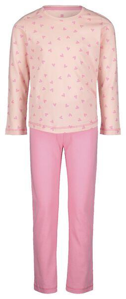 kinderpyjama hartjes roze roze - 1000020868 - HEMA