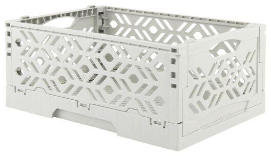 caisse pliante recyclée 24 x 16 x 9.5 cm - gris gris 24 x 16 x 9,5 - 39892905 - HEMA