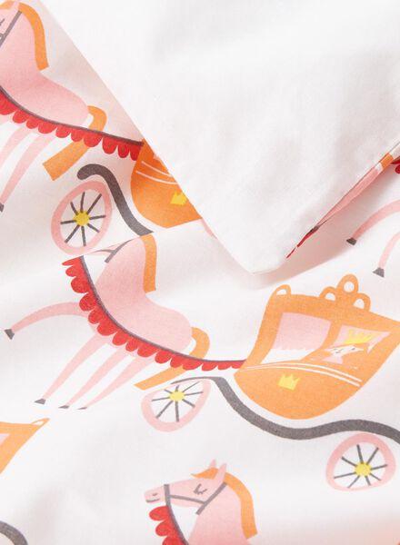 housse de couette enfant-coton doux-120x150cm-blanc princesses - 5750100 - HEMA