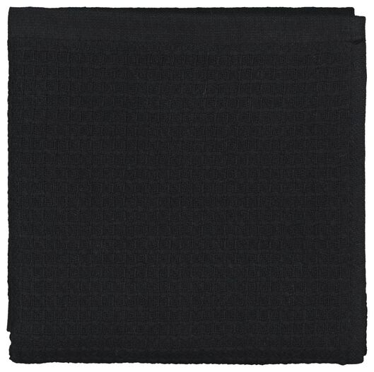 kitchen towel - 50 x 50 - cotton honeycomb black - 5490039 - hema