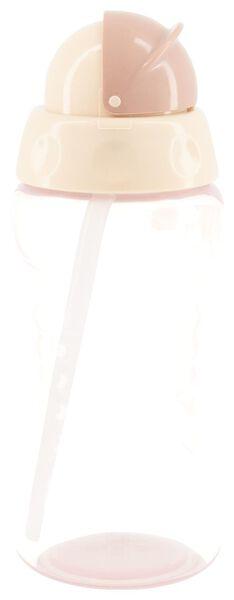 gourde avec paille 300ml - rose - 33503130 - HEMA