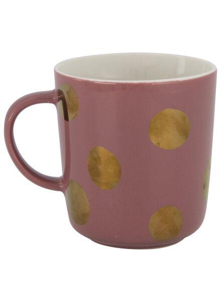 mug - 280 ml - Chicago - pink with gold-coloured dot - 9602081 - hema