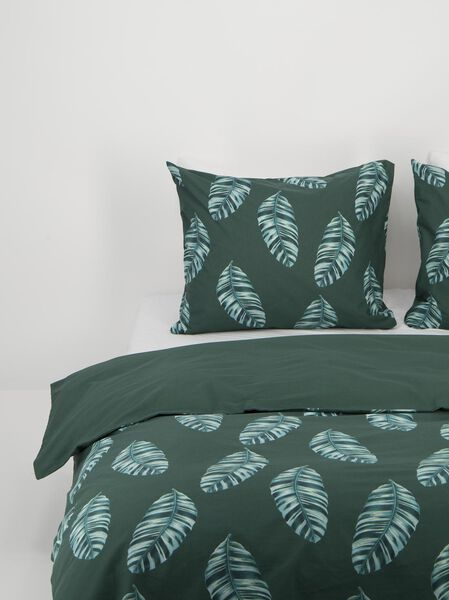 duvet cover - soft cotton green green - 1000018658 - hema