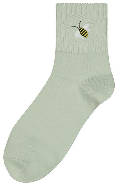 Socken, Größe 36-41, Summer, Biene, hellgrün - 61140085 - HEMA
