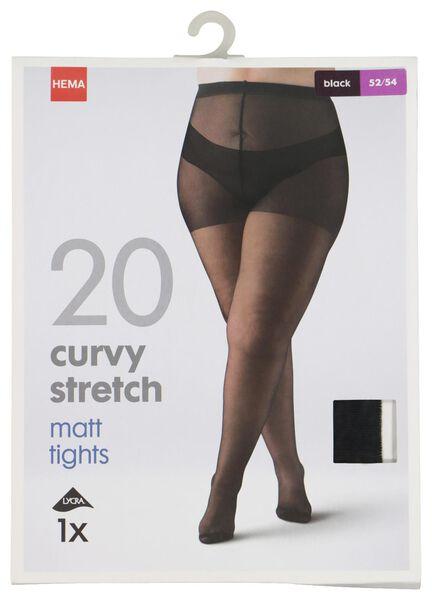 HEMA Collant Curvy Stretch 20 Deniers Noir (noir)