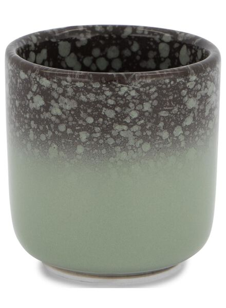 pot de fleurs Ø 6 cm - glaçage réactif - vert - 13391061 - HEMA