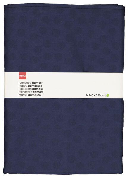 nappe 140x250 coton damassé - pois bleu - 5300087 - HEMA