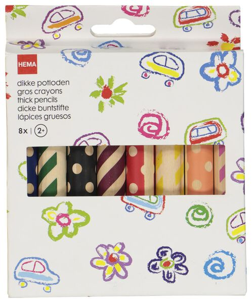 8gros crayons de couleur - 15990113 - HEMA
