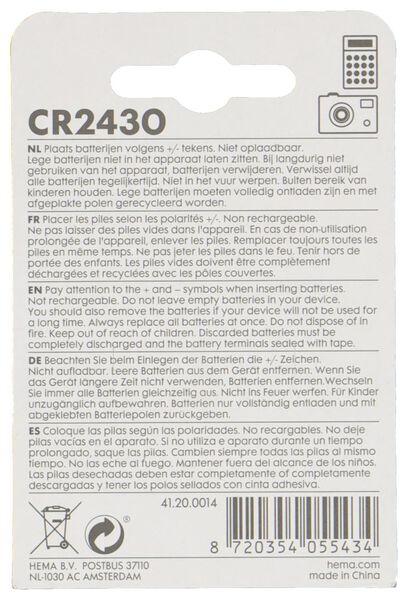 2er-Pack CR2430 Lithium-Knopfzellenbatterien - 41200014 - HEMA