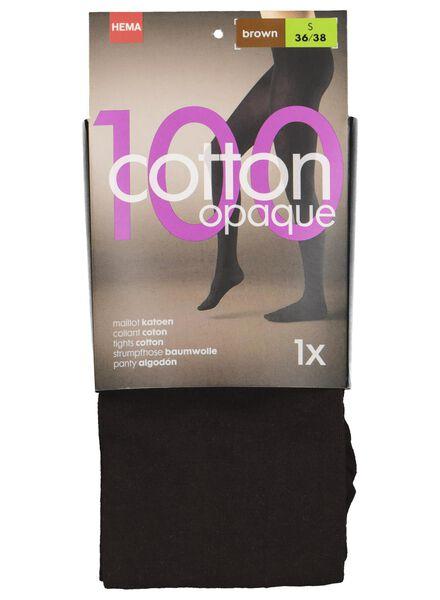 cotton tights 100 denier brown brown - 1000016528 - hema
