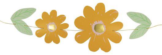 guirlande - 2 mètres fleurs en papier orange - 25860007 - HEMA