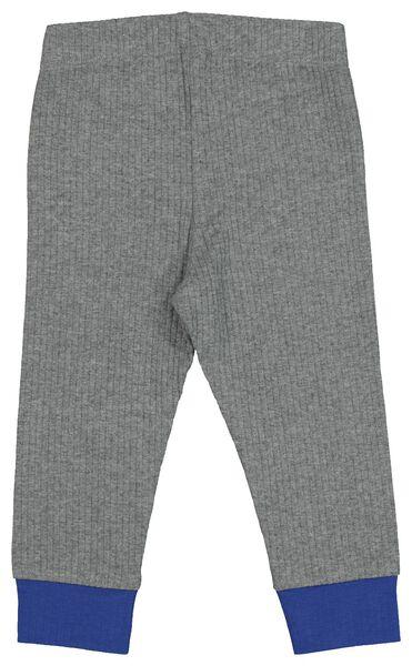 Baby-Pyjama mit Bambus, gerippt, Stretch graumeliert graumeliert - 1000021018 - HEMA