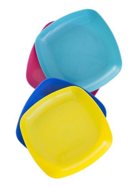 4er-Set Plastikteller - 80630193 - HEMA