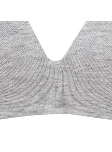 soutien-gorge t-shirt paddé sans armatures en coton gris chiné gris chiné - 1000006602 - HEMA