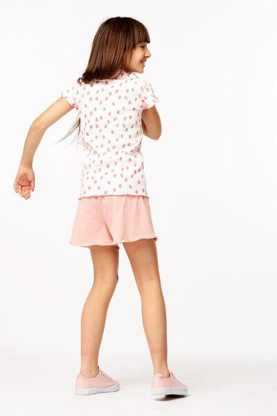 t-shirt enfant côtelé blanc cassé blanc cassé - 1000023673 - HEMA