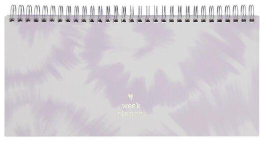 HEMA Weekplanner Spiraal 13x27 Roze/wit