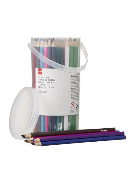 100 crayons de couleur - 15919088 - HEMA