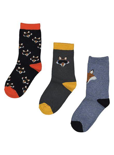 3-pack children's socks multi multi - 1000014561 - hema