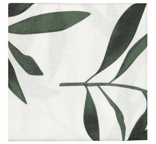 torchon 65x65 coton - blanc avec feuilles vertes - 5410090 - HEMA