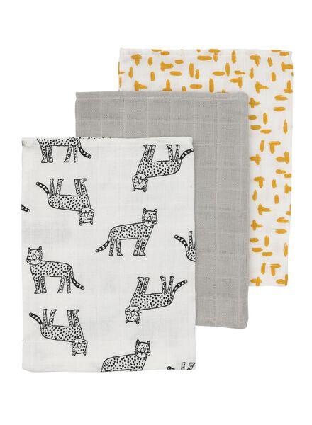 3-pack face cloths muslin - 33389614 - hema