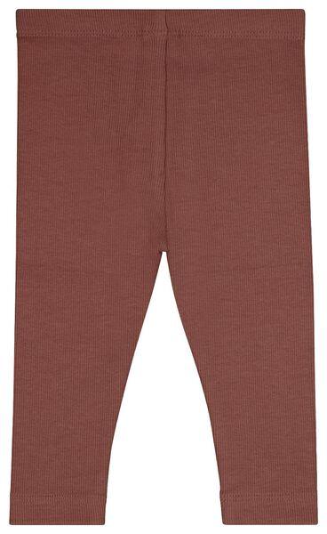 2 leggings bébé côtelés rose rose - 1000024458 - HEMA