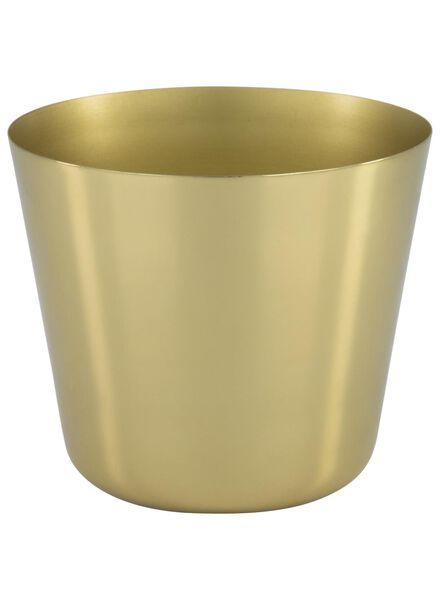 pot de fleurs Ø 14.3 cm - métal - doré - 13392112 - HEMA