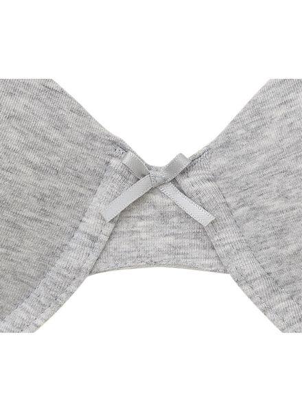 2-pack padded bras cotton grey melange grey melange - 1000006604 - hema
