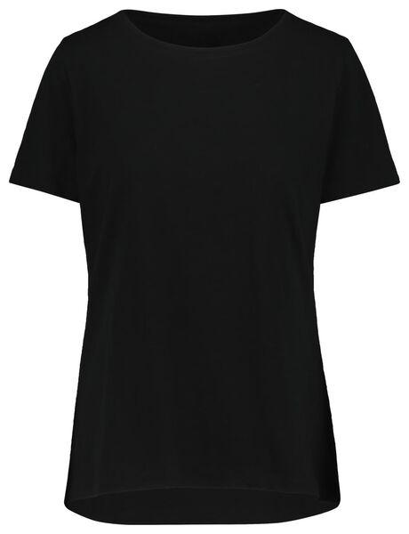 women's T-shirt black black - 1000019252 - hema