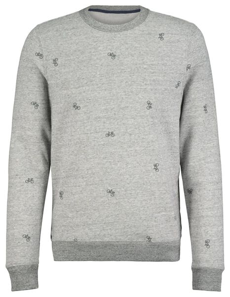men's sweater grey melange grey melange - 1000017631 - hema