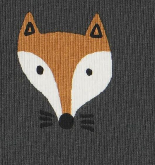bodysuit organic cotton stretch fox dark grey dark grey - 1000020437 - hema