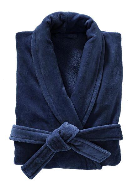 peignoir velours bleu foncé bleu foncé - 1000003047 - HEMA