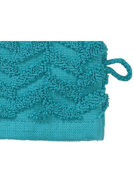 wash mitt - heavy quality - dark green zigzag dark green wash mitt - 5200071 - hema