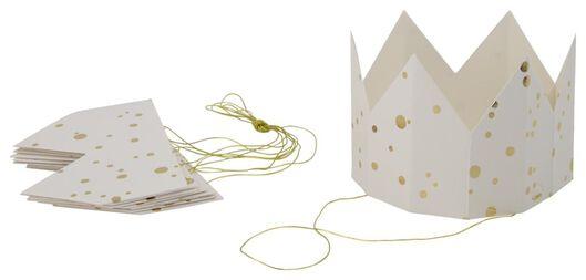 6 white paper crowns - 14200535 - hema