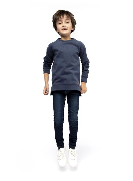 Kinder-Sweatshirt blau blau - 1000017263 - HEMA