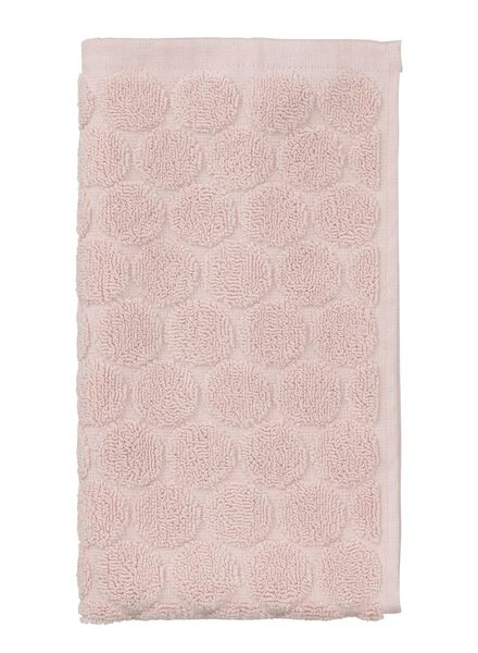 petite serviette - 30 x 55 cm - qualité épaisse - rose pois rose petite serviette - 5200061 - HEMA