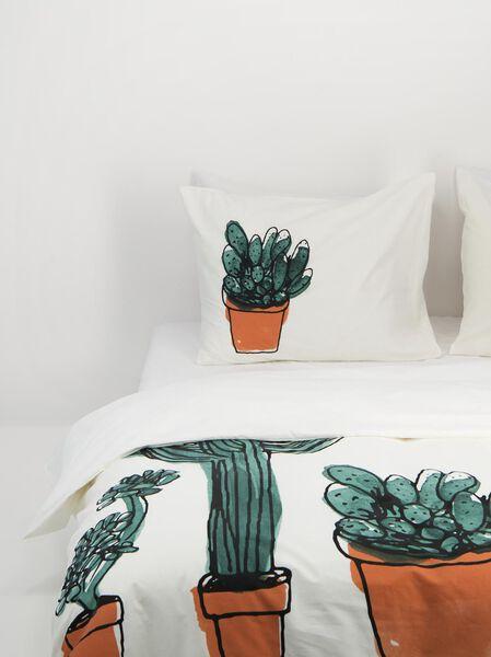 HEMA Housse De Couette - Coton Doux - Blanc Cactus Multi (multi)
