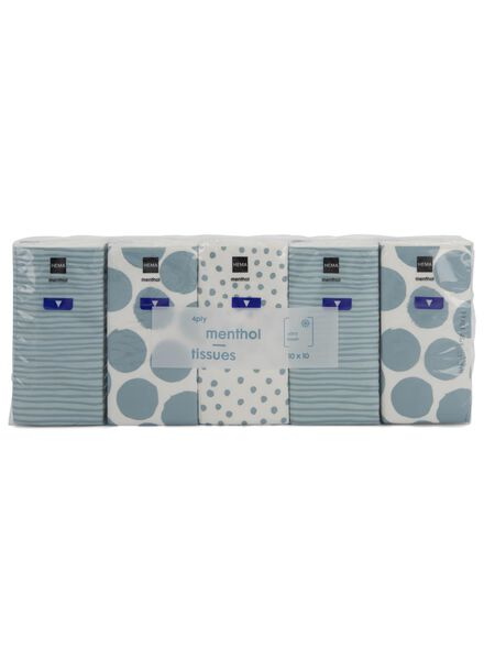 10 mouchoirs menthol - 11511109 - HEMA