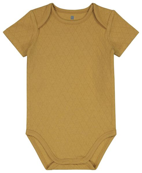 Baby-Body, Baumwolle, Struktur gelb gelb - 1000022936 - HEMA