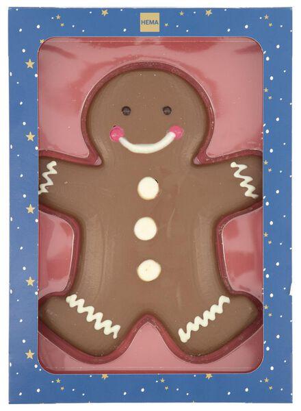 milk chocolate gingerbread man 125 grams - 10030015 - hema
