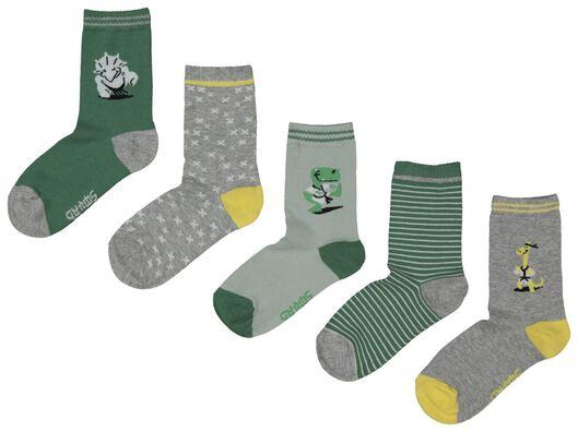 5-pack children's socks green green - 1000018023 - hema