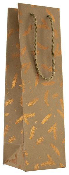 gift bag wine 36x10.5x10.5 paper pine tree branch - 25700139 - hema