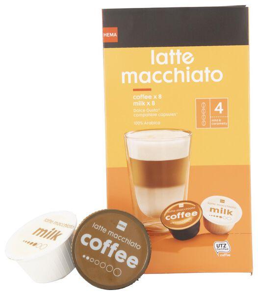 8er-Pack Kaffeekapseln – Latte Macchiato - 17100131 - HEMA