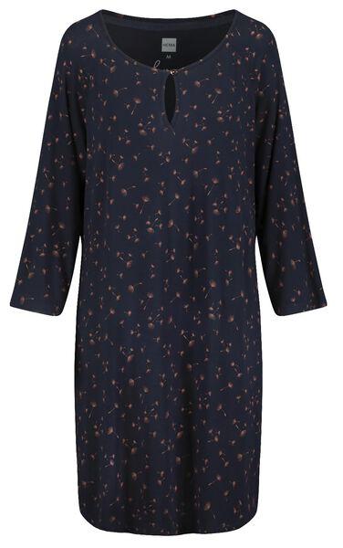 women's nightshirt dark blue dark blue - 1000018760 - hema