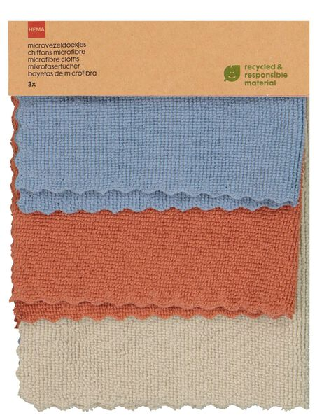 3 micro-fibre cloths recycled - 5400071 - hema