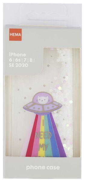 Schutzhülle für iPhone 6/6S/7/8/SE2020, Weltraumkatze - 39680103 - HEMA