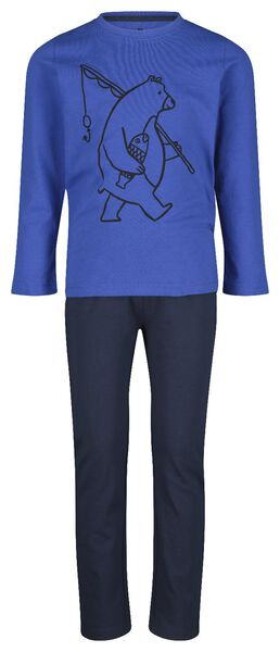 kinderpyjama beer blauw blauw - 1000020676 - HEMA