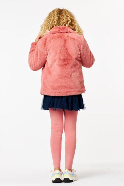 manteau enfant teddy rose rose - 1000024391 - HEMA