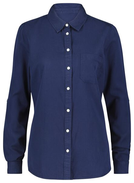 women's blouse dark blue M - 36248342 - hema