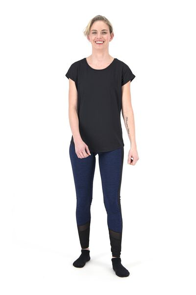 women's sports shirt loose fit black black - 1000018821 - hema